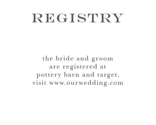 Customizable Wedding Registry Cards By Basic Invite – Target Registry Cards for Invitations