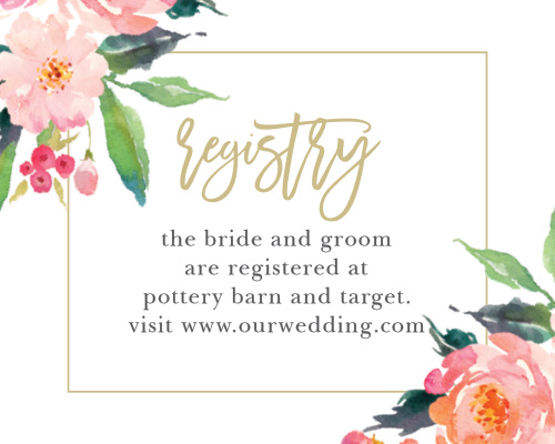 Give guests your wedding wish list with the Standing Ovation Registry Cards.