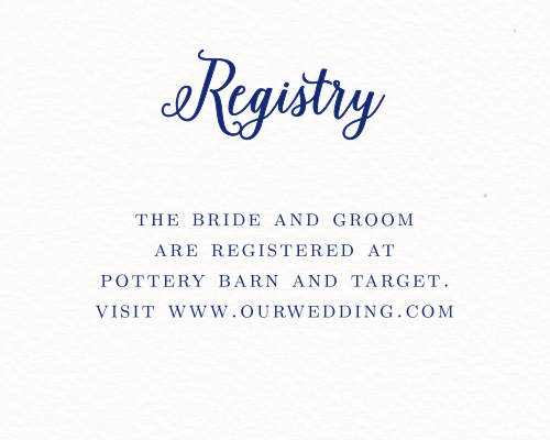 A printed background with the look of watercolor paper makes the Watercolor Anemone Registry Cards match perfectly with the rest of the cards in its suite