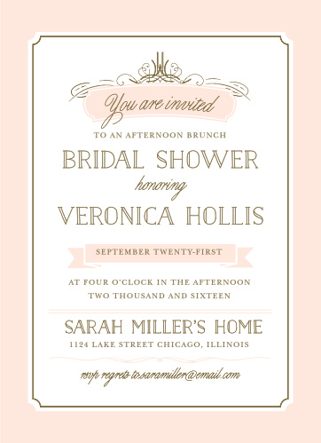 Nice Opulent Frames Bridal Shower Invitations