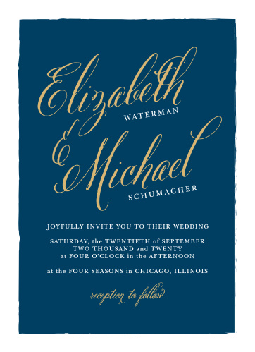 Romance abounds with the Calligraphy Script Foil Wedding Invitations from the Crafty Pie Collection at Basic Invite.