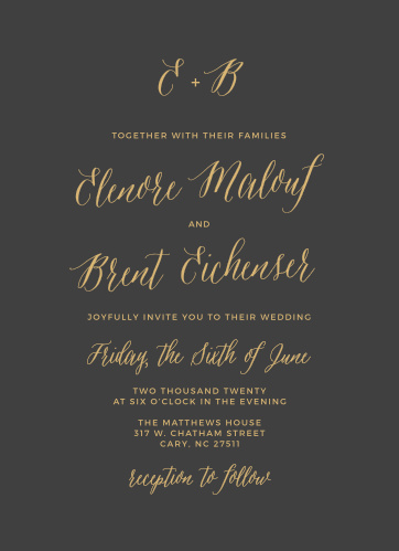 The Rustic Script Foil Wedding Invitations from the Crafty Pie Collection at Basic Invite are an elegant way to invite friends and family to your special day.