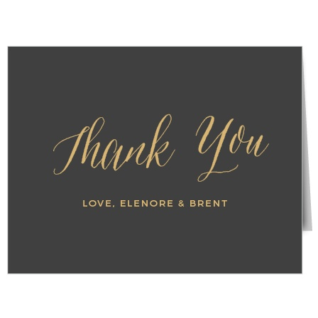 Remember those who supported you with the Rustic Script Foil Thank You Cards from the Crafty Pie Collection at Basic Invite.
