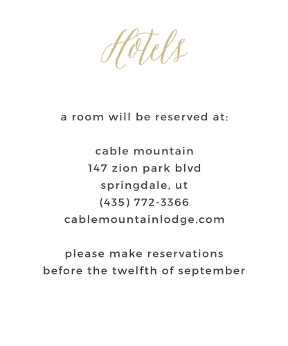 Guests will appreciate receiving the Rustic Script Foil Accommodation Card from the Crafty Pie Collection at Basic Invite as part of your wedding stationery.