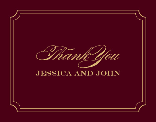 Acknowledge the generosity of friends and family with the Elegant Script Foil Thank You Cards from the Crafty Pie Collection at Basic Invite.