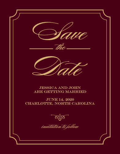 Reserve your spot in guests' calendars with the Elegant Foil Script Save-the-Date Magnets.