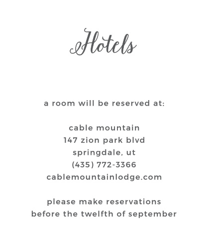 Give your guests vital travel and hotel information with the Watercolor Wreath Accommodation Cards.