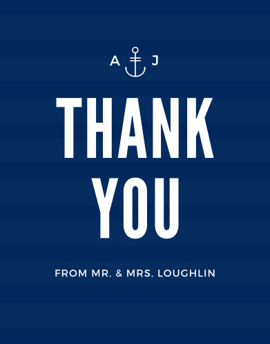 Express your gratitude to the friends and family who celebrated with you with the Modern Nautical Thank You Cards from the Crafty Pie Collection at Basic Invite.