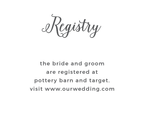 Help guests find your wedding wish list by including the Watercolor Wreath Registry Cards in your wedding stationery. e.