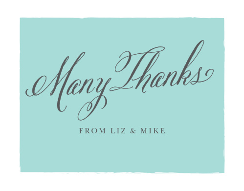 Convey your gratitude to friends and family with the Calligraphy Script Thank You Cards from the Crafty Pie Collection at Basic Invite.