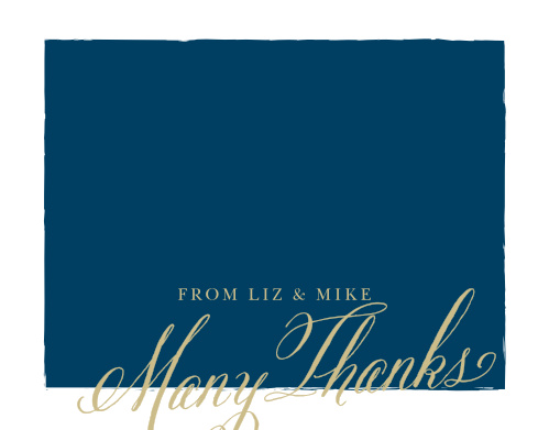Convey your gratitude to friends and family with the Calligraphy Script Foil Thank You Cards from the Crafty Pie Collection at Basic Invite.