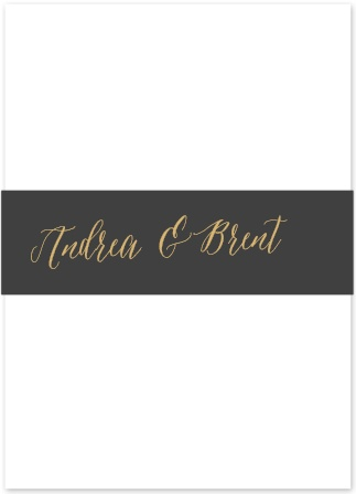 Add the finishing touch to your wedding stationery with the Rustic Script Foil Belly Bands from the Crafty Pie Collection at Basic Invite.