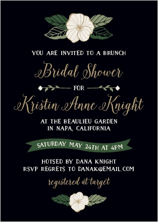 Customize the Garden Floral Bridal Shower Invitations to match the theme of your party.