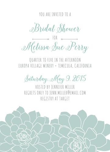 Bridal shower invitations wedding shower invitations basicinvite sweet succulents bridal shower invitations filmwisefo