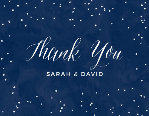 Finish your wedding stationery with the Under the Stars Thank You Cards.