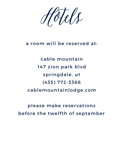 Help guests make travel plans with the Under the Stars Accommodation Cards.