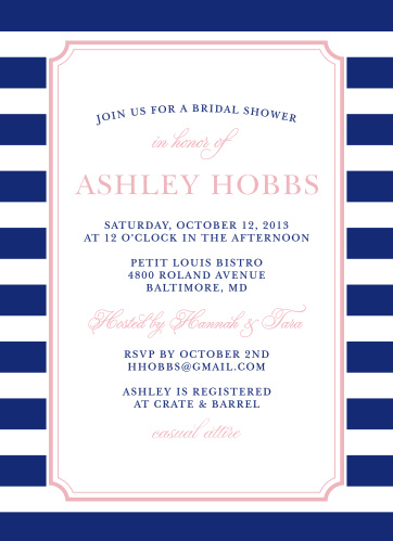 The Preppy Stripe Bridal Shower Invitations are a fun and classic way to celebrate the bride-to-be.