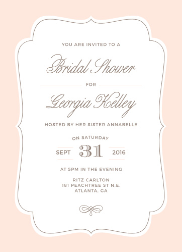 Joyfully invite friends and family to celebrate the bride with the Vintage Frame Bridal Shower Invitations.