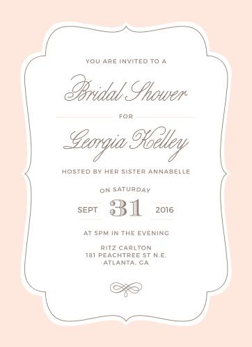 Bridal shower invitations wedding shower invitations basicinvite vintage frame bridal shower invitations filmwisefo