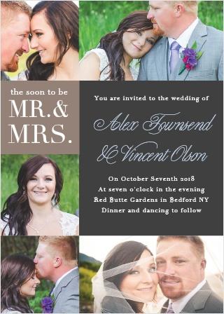 Mr. & Mrs. Wedding Invitations
