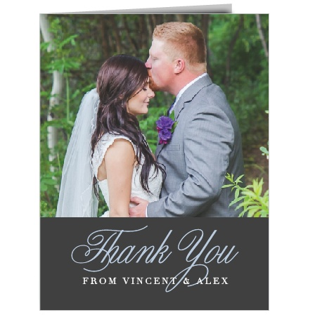 Remember family and friends who celebrated with you on your special day with the Mr. & Mrs. Thank You Cards.