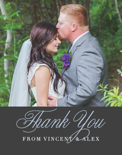 Wedding Thank You Cards by Basic Invite – Picture Wedding Thank You Cards