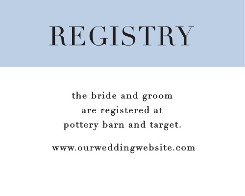 Help guests find your unique wedding registry with the Mr. & Mrs. Registry Cards.