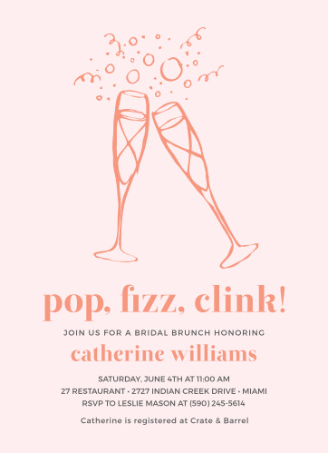 Pop Fizz Clink Bridal Shower Invitations