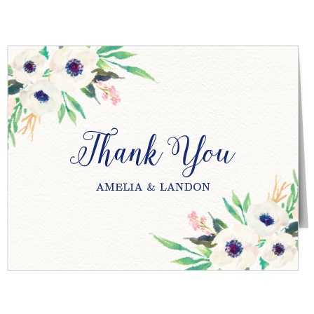 Watercolor Anemone Thank You Cards