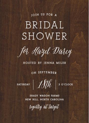 Bridal shower invitations wedding shower invitations basicinvite rustic wood bridal shower invitations filmwisefo