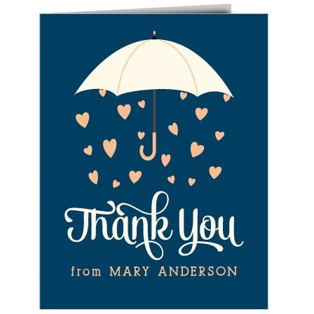 Raining Love Thank You Cards