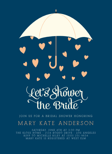 raining love bridal shower invitations - Wedding Shower Invites