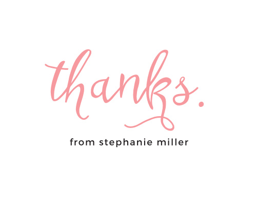 Express your gratitude to shower guests with the Miss to Mrs. Bridal Shower Thank You Cards.