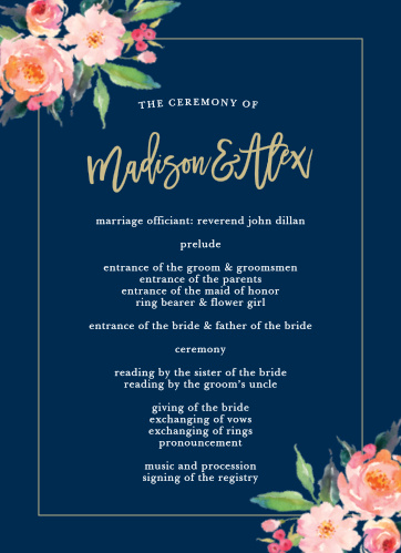Organize for success with the Standing Ovation Wedding Programs from the Crafty Pie Collection at Basic Invite.