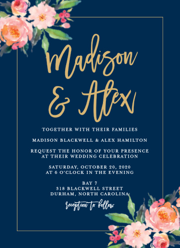 standing ovation foil wedding invitations - Wedding Invitations Online