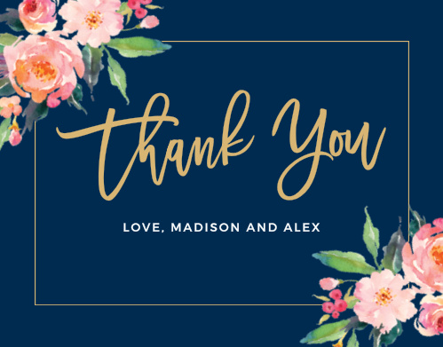 Business thank you stationery standing ovation foil thank you card colourmoves