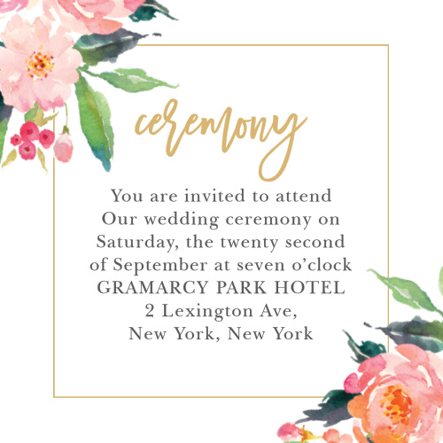 Small Ceremony Big Reception Invitations: Wedding Enclosure Cards By Basic Invite