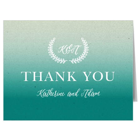 Rustic Ombre Thank You Cards