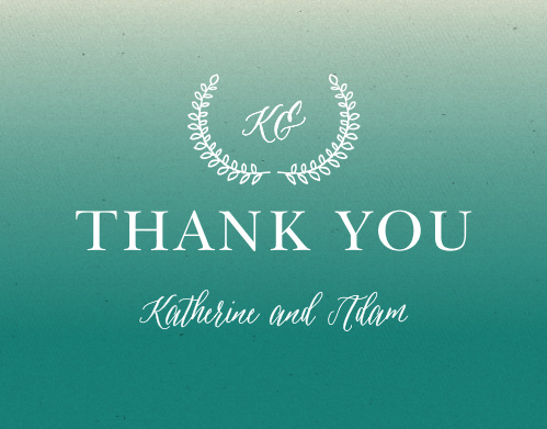 Finish your truly custom wedding stationery with the Rustic Ombre Thank You Cards from the Crafty Pie Collection at Basic Invite.