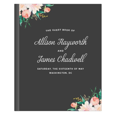 Blossoming Love Chalkboard Guest Book