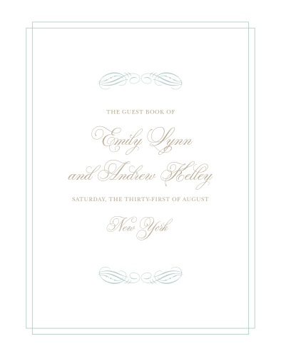 Dazzle your guests with the Emily Swash Guest Book from the Crafty Pie Collection at Basic Invite.