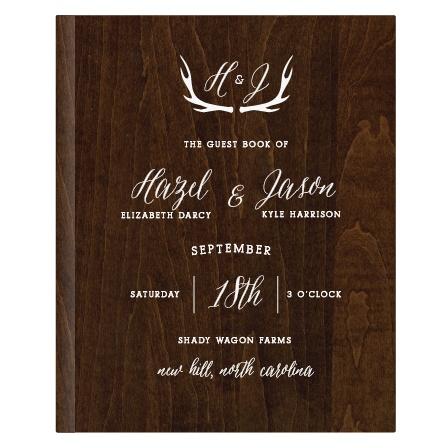 Rustic Wood Guest Book