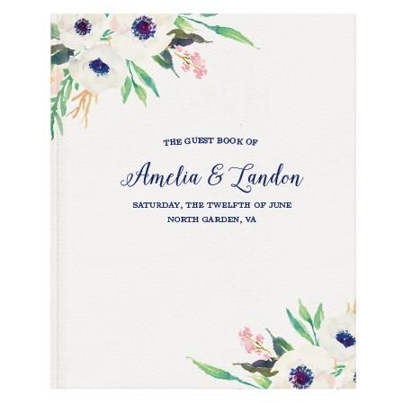 Watercolor Anemone Guest Book