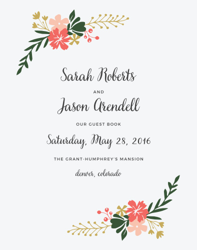 See the vibrant florals of the Garden Party Guest Book in your wedding colors.