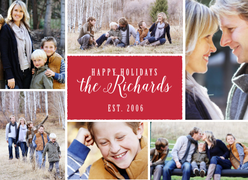Share life's fantastic moments with the Rustic Snapshots Holiday cards.