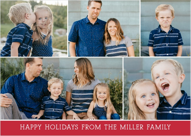 Capture your family's happy, silly and spontaneous moments with the Candid Moments Holiday Cards.