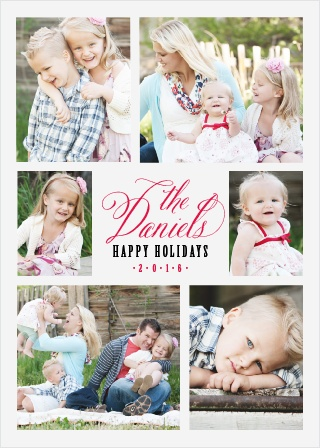 Show off your family this Holiday Season with the Script Photos Holiday Cards.