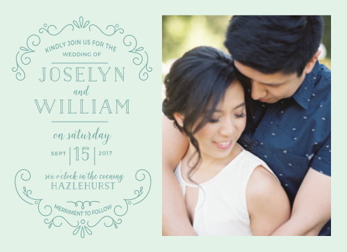 wedding invitation with photo