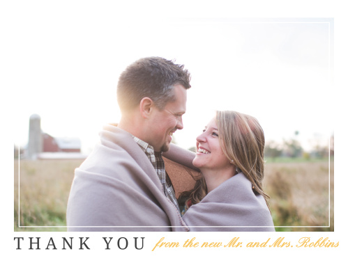 brilliant banner thank you cards - Wedding Thank You Cards