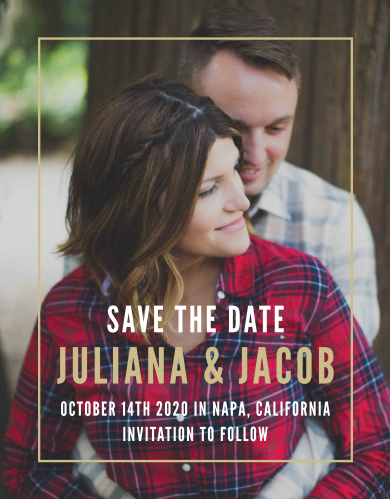 The Modern Appeal Save-the-Date Magnets announce your upcoming union with  contemporary pizzazz.